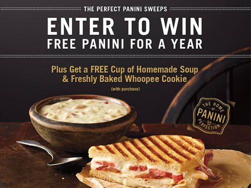 Corner Bakery Cafe Rewards 100 Lucky Fans in the Year of Perfect Panini Sweepstakes