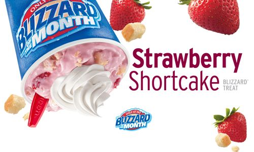 The Dairy Queen System Debuts New Strawberry Shortcake as Featured Blizzard of the Month for May