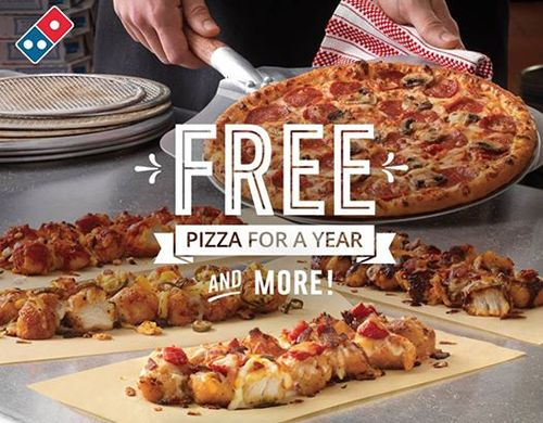 Domino's Pizza to Offer Free Pizza for a Year through Social Media Giveaway