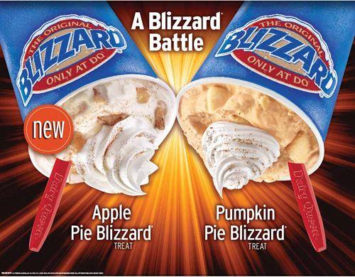 Dairy Queen Debuts New Apple Pie Blizzard, Pumpkin Pie Blizzard Returns