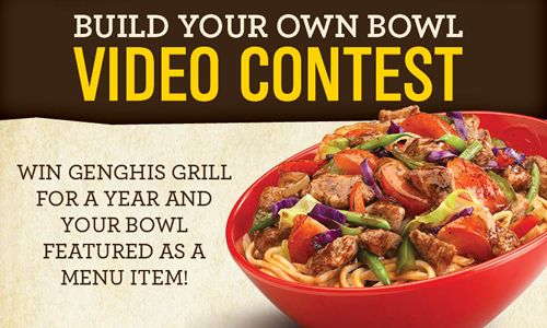 Crafty Khans Vie For Glory With Genghis Grill's Build Your Own Bowl Contest