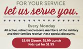 Ryan's, HomeTown Buffet, and Old Country Buffet Salute Military and Their Families with New Discount Program, November 10