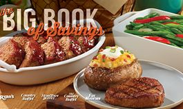 Ryan's, HomeTown Buffet and Old Country Buffet Offer 'Big Book of Savings' to Benefit Armed Services YMCA
