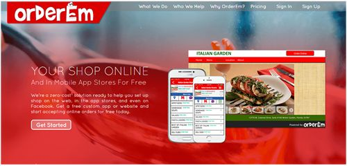 OrderEm gives free restaurant websites with Online Ordering to local restaurants