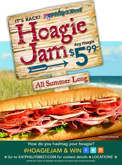 Philly's Best Celebrates Summer with Hoagie Jam and $5.99 Hoagies