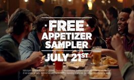 "Applebee's Free Appetizer Sampler, July 21, ""Taste The Change"" Day"