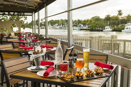 Construction Underway for Outside Waterfront Bar at Delray's Socially Chick Waterfront Escape, Hudson at Waterway East
