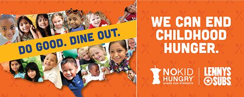 Lenny's Subs Urges Diners to Leave No Kid Hungry with National Fundraiser