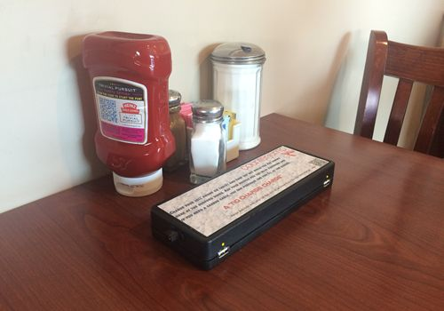USB Charging System Charges Up Diner Customers
