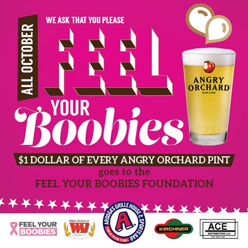 Arooga's Backs Breast Cancer Awareness Month with October Fundraiser to Benefit the Feel Your Boobies Foundation