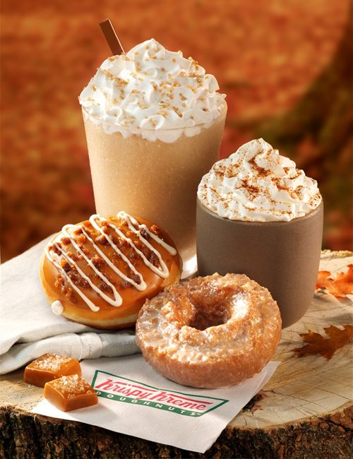 New Salted Caramel Latte and Salted Caramel Latte Doughnut Highlight Krispy Kreme's Lineup of Fall Flavor Offerings