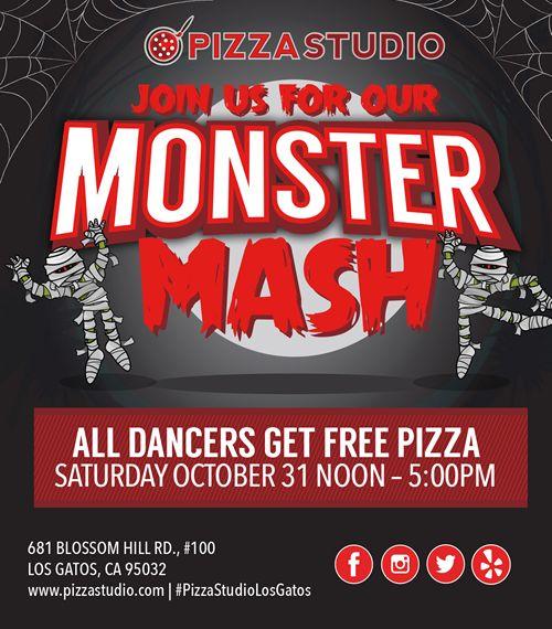 "Pizza Studio's Los Gatos Grand Opening ""Masterpizzas"" and Halloween Fun"
