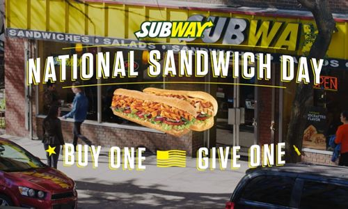 SUBWAY Restaurants Offer Buy-One, Give-One Deal on National Sandwich Day