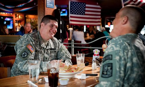 Let Us Serve You: Applebee's Honors Approximately 24 Million Veterans and Active-Duty Military Personnel By Offering Them Free Lunch or Dinner on Veterans Day