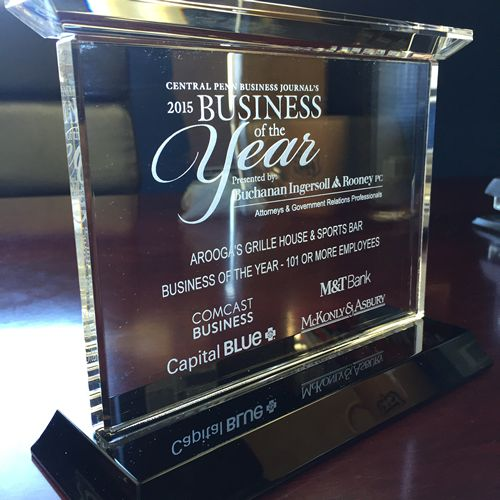 Arooga's Named Central Penn Business Journal's Business of the Year (101+ Employees)