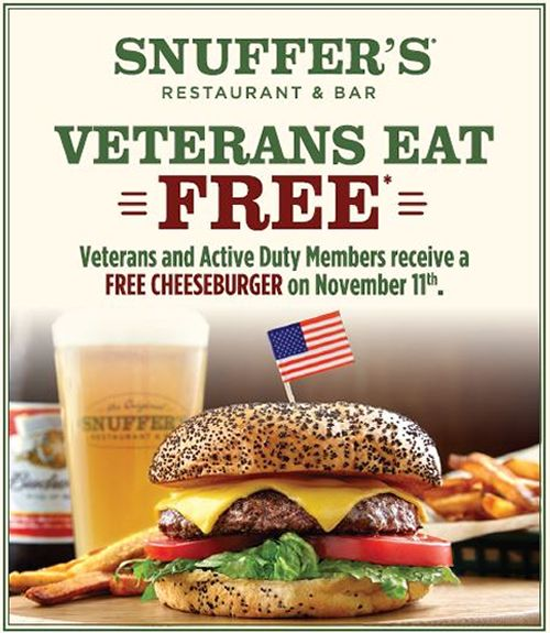 Snuffer's Salutes America's Finest on Veterans Day