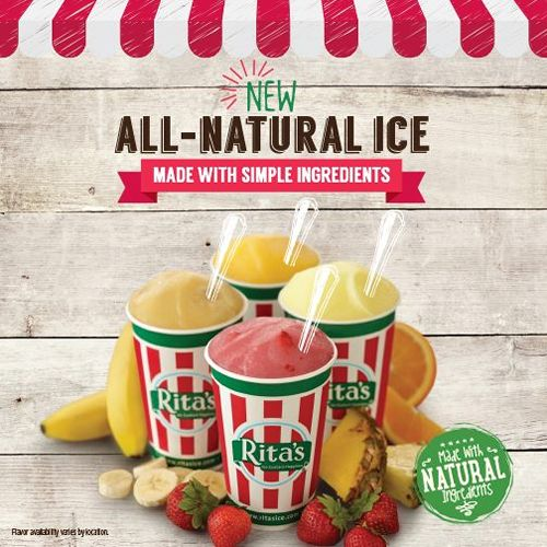 Rita's Italian Ice Launches All-Natural Italian Ice in Stores Nationwide