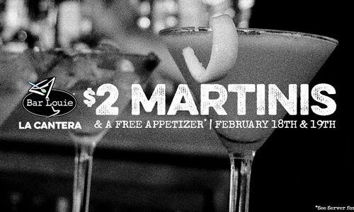 Bar Louie Celebrates 3 Years in San Antonio, Texas with $2 Martinis