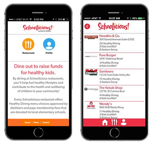 New SchooLicious! App to Fuel Healthy Lifestyles and Raise Money for School Fitness and Wellness Programs