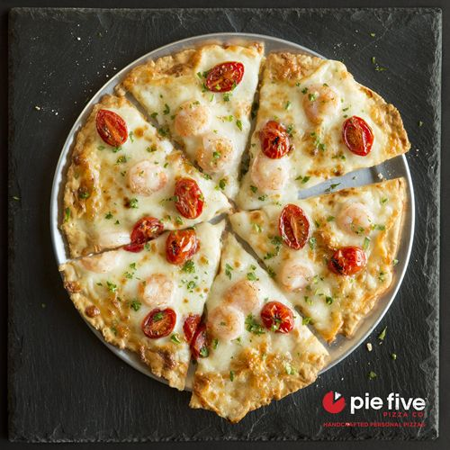 Pie Five Rocking the Boat with New Shrimp Scampi-zza