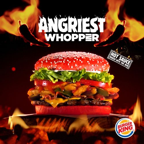 NEW Angriest WHOPPER Sandwich with Red Bun Debuts at BURGER KING Restaurants