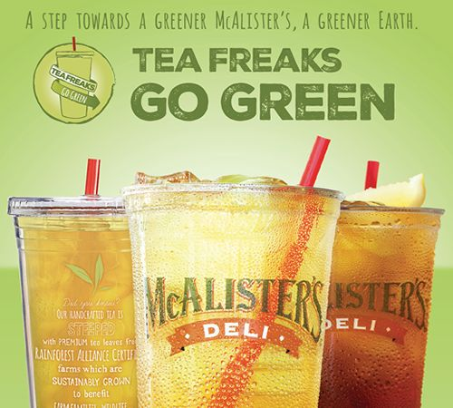 McAlister's Deli Goes Green With Introduction of Green Tea and Mango Green Tea