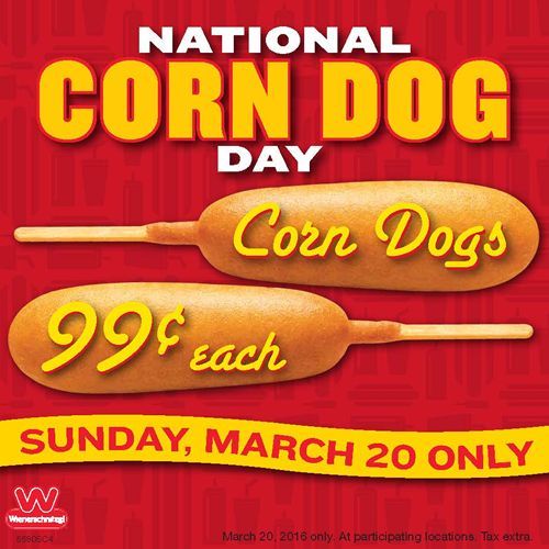 Wienerschnitzel Celebrates National Corn Dog Day on March 20