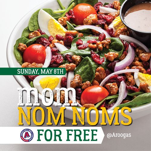 Moms Eat Free at Arooga's Grille House & Sports Bar on Mother's Day, Sunday May 8