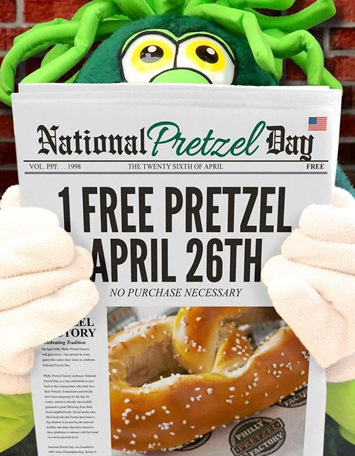 """Philly Pretzel Factory """"Twists"""" Things Up for National Pretzel Day with Pretzel Giveaway and Presidential Candidate Pretzels"""