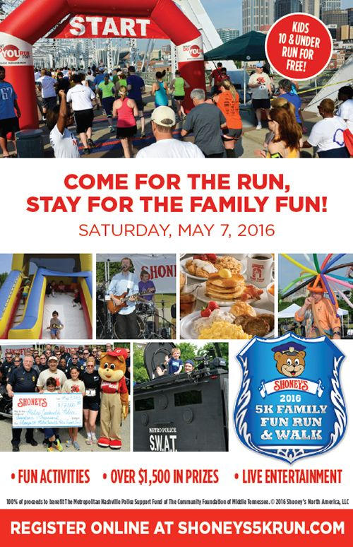Shoney's Sets Stage for One Lucky Band with its 5K Family Fun Run & Festival Band Selection Contest on Facebook
