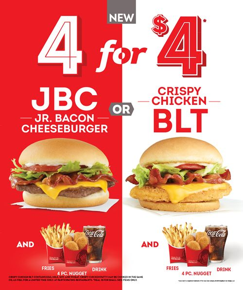 Wendy's Introduces New Player to 4 for $4 Meal on April 4