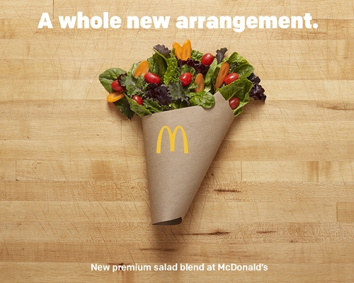 McDonald's Introduces a New Salad Blend Freshly Prepared Just for You