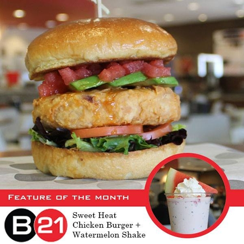 Burger 21 Beats The Sizzling Summer Temperatures With The Launch Of Its Sweet Heat Chicken Burger And Watermelon Shake