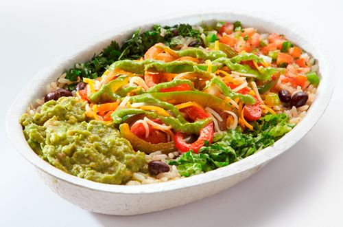 The Fuzzy's Burrito Bowl, now available until Sept 11, 2016