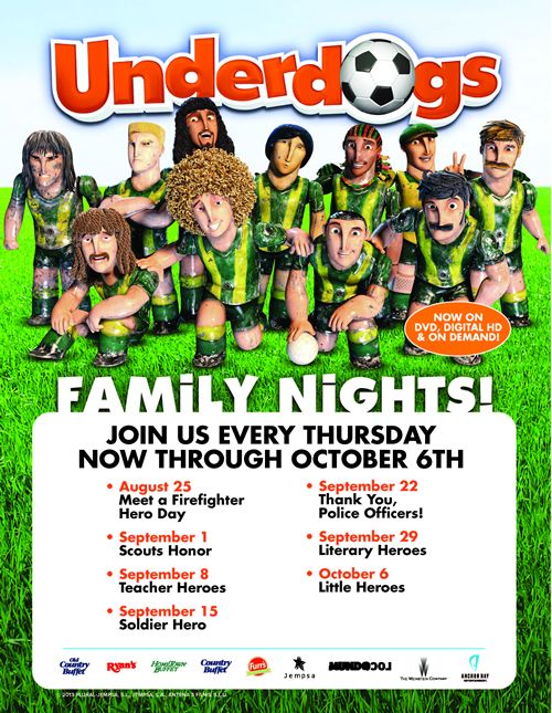 Ovation Brands and Furr's Fresh Buffet Celebrate Real Life Heroes with a New Family Night Promotion, Starting August 25