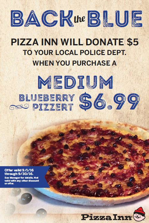 Pizza Inn in Mississippi Backing the Blue with State-Wide Giveback