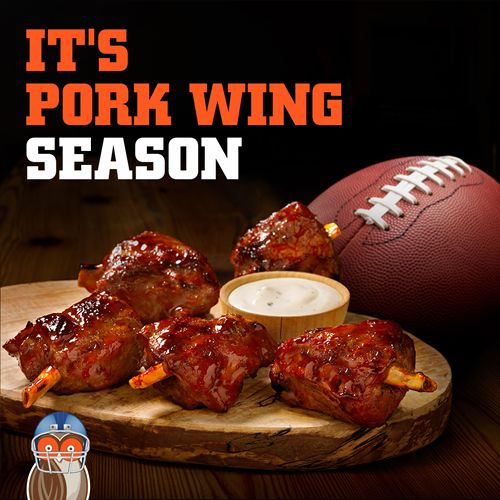 Pork Wings Take Flight on Hooters Fall Game Day Menu