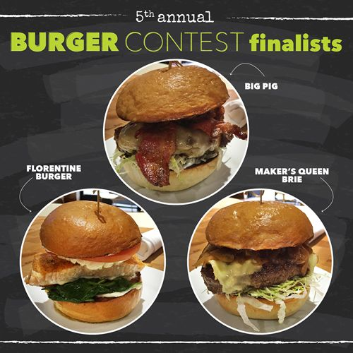 Zinburger Wine & Burger Bar Announces Top 3 Burgers Entries in Fifth Annual Burger Contest
