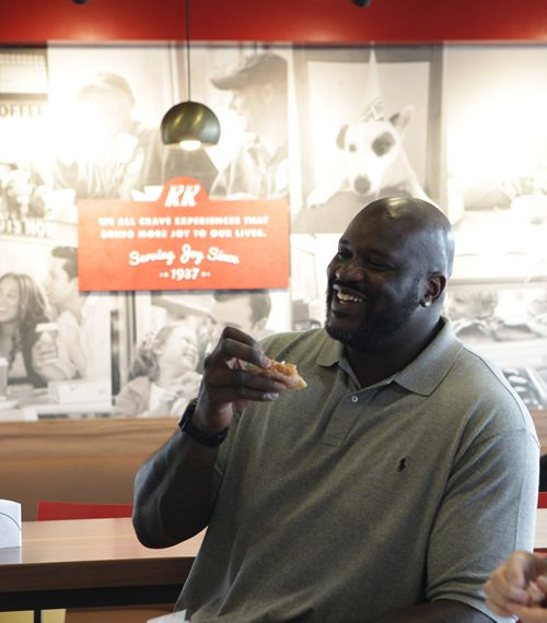 Shaq Signs as an Owner in Krispy Kreme Doughnuts Franchise