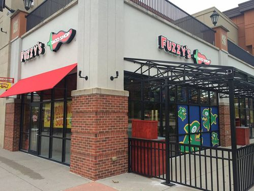Fuzzy's Taco Shop in the Village Pointe Shopping Center