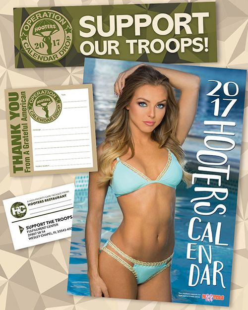 Hooters Operation Calendar Drop Has Distributed Over 150,000 Hooters Calendars to Military Personnel Stationed Around the World
