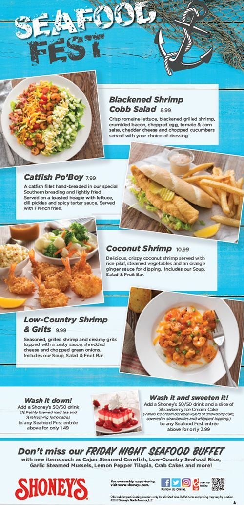 Shoney's Invites America to Get Hooked on its Seafood Fest and to Enjoy an Unbeatable $3.99 Meal Deal for Lunch or Dinner