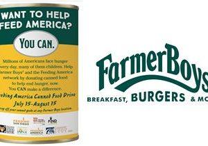 Farmer Boys Hosts Canned Food Drive Through August 15