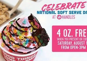 16 Handles Celebrates National Soft Serve Day with FREE Fro-Yo & Ice Cream!