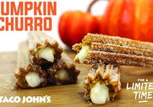 Pumpkin Churros Bring Taste of Autumn To Taco John's