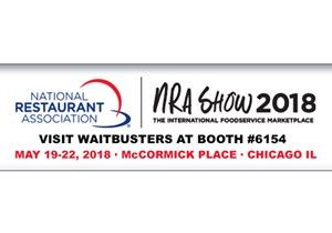 Waitbusters to Feature Its Digital Diner Software at the 2018 NRA Show