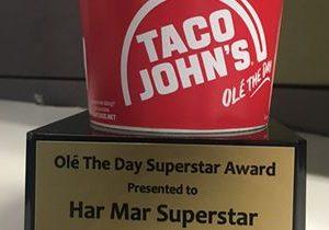 National Blues Artist Har Mar Superstar to Receive World's First Potato Olés Trophy