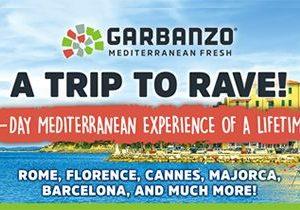 Garbanzo Mediterranean Fresh Announces 10th Anniversary Winner of VIP Trip to the Mediterranean