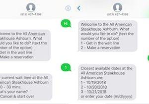 Get in a Wait Line or Make a Reservation via SMS with Digital Diner