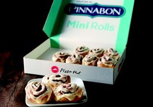 Savory Then Sweet: New Cinnabon Mini Rolls Roll Onto Pizza Hut Menu
